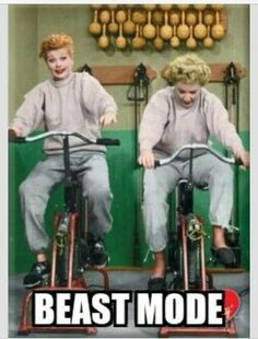 Fitness Humor - Funny Exercise Shirt - Ideas of Funny Exercise Shirt - - Fitness Humor Beast Mode Lucy Lucille Ball exercise bike bicycle Fitness Humor, Fitness Motivation, Fitness Quotes, Health Fitness, Morning Motivation, Funny Fitness Memes, Lifting Motivation, Fitness Shirts, Fitness Plan