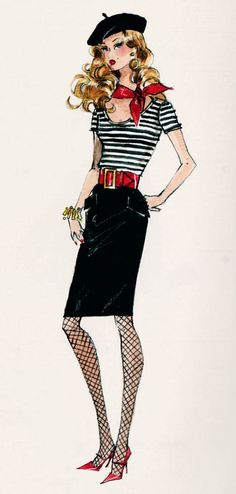 Parisian Fashion Sketch - ana_lee: Robert Best