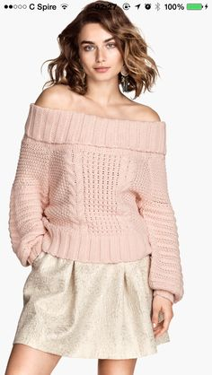 H&M off the shoulder sweater!