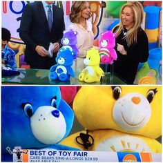 Great way to brighten up a chilly morning: seeing these cheerful faces on the @todayshow! Big thanks to @thetoyinsider for introducing @justplayproducts Care Bears Sing-a-longs to the world! #tfny