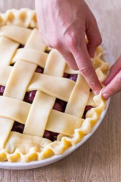 There's nothing like a fresh Cherry Pie bubbling through a rich, flaky crust. Learn how to make the best cherry pie from scratch with our easy, go-to Pie Crust and fresh or frozen cherries. Sour Cherry Pie, Fresh Cherry, Cherry Cake, Cherry Recipes, Tart Recipes, Yummy Recipes, Lattice Pie Crust, Homemade Cherry Pies, Cherry Smoothie