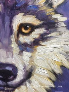 In this impressionistic original painting I used my brushes to apply thick oil paint. My goal was to create a soft looking painting, but still have lively brush strokes and a high contrast of light…More Wolf Painting, Painting & Drawing, Acrylic Painting Animals, Abstract Animals, Abstract Art, Art Sketches, Art Drawings, Mundo Animal, Animal Paintings