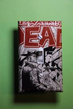 Walking Dead Comic book Light Switch cover home room decor AMC walkers #1