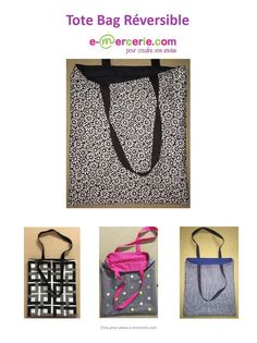 Risultati immagini per tutorial cabas reversibles Le Tote, Tote Bags, Diy Bags Purses, Blog Couture, Couture Sewing, Bagan, Diy Organization, Sewing Tutorials, Diy Clothes