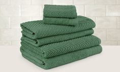 Chateau Spa 100% Egyptian-Cotton Jacquard 6-Piece Towel Set