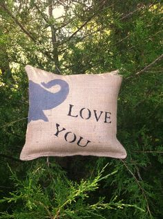 Would be cute! But not on burlap.