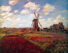 Tulips in Holland by Claude Monet.