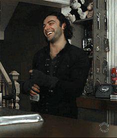 Aidan Turner FACE … happy vampire is happy