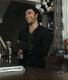 Aidan Turner FACE … happy vampire is happy