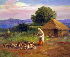 Farm life by Fernando Amorsolo Filipino Art, Filipino Culture, Life Pictures, Pictures Images, Photos, Various Artists, New Artists, Manila, Philippine Art