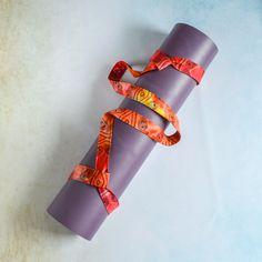 DIY: adjustable yoga mat sling carrier