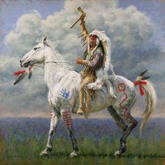 Native American Man on horseback art Native American Horses, Native American Warrior, Native American Paintings, Native American Pictures, Native American Artists, Native American History, Indian Paintings, Horse Paintings, Abstract Paintings