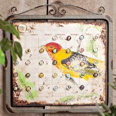 Pretty Bird Wall Calendar with Magnets.