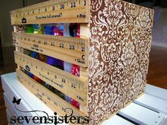 Pocket Full of Pink: DIY Vintage Wood Crate - make your own, just use wooden rulers or paint sticks