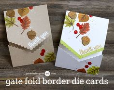 Gate Fold Border Die Cards + Blog Hop + Giveaway
