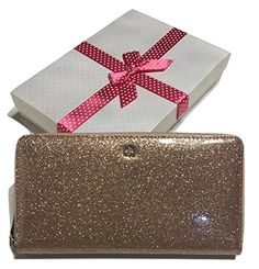 Kate Spade Mavis Street Neda Clutch Wallet WLRU2388 with Gift Box (Rose Gold) -- You can find out more details at the link of the image.