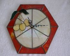Cherry Clock - Bembridge Art Glass - Marilyn and John Goodwin