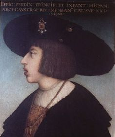 Portrait of Ferdinand I,Holy Roman Emperor by Hans Maler,1524-25 found on Jeannedepompadour blogspot