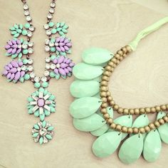 Seafoam green accessories necklace