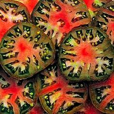Black Sea Man Russian Heirloom Tomato, an ugly tomato that is meaty and yummy..