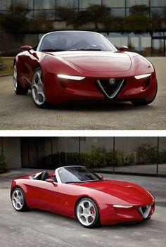 A girl can appreciate good design where ever she may find it. I want. Alfa Romeo 2uettottanta by Pininfarina | Inspiration Grid | Design Inspiration #NobleM600 #alfaromeogirl