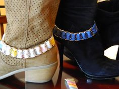 BOOT BLING made from recycled Material by gr8byz on Etsy