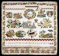 19th Century European Sampler Unable To Read Date