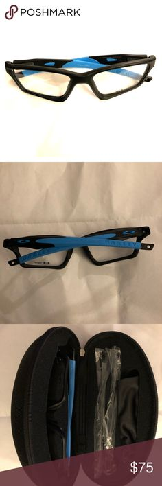 NWT Oakley Crosslink sweep. Blk/ Sky. Brand new Oakley frames. Comes with case, cleaning bag and extra gray arms. Perfect for a sporty look!! Oakley Accessories Glasses