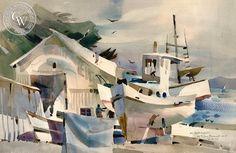 Rex Brandt California Watercolor - At Monterey, 1977 – California Watercolor
