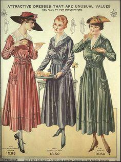 1917-18 T.Eaton Co.  -pink dress