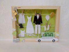 Geldgeschenk Hochzeitsvitrine von geldgeschenke auf DaWanda.com