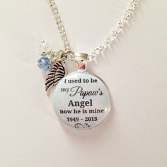 A personal favorite from my Etsy shop https://www.etsy.com/listing/258072544/memorial-charm-i-used-to-be-my-papaws
