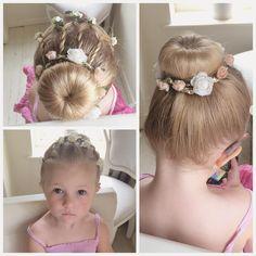 Here's my little 2 year old Baylee. She has a hair covered donut in, which is available in my Store, link in my Bio   #sweetheartshairdesign #toddlerhair #braidsforlittlegirls #bun #trenza #tresse #peinado #cutehair #kidshair
