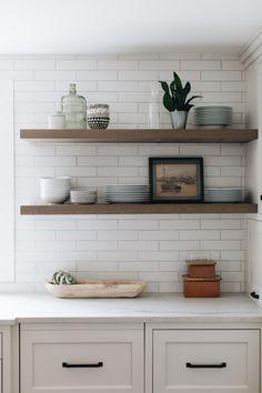 Home Interior Kitchen .Home Interior Kitchen Küchen Design, Home Design, Layout Design, Floating Shelf Decor, Floating Shelves Kitchen, Open Shelving In Kitchen, Corner Cabinet Kitchen, Kitchen Shelf Design, Wood Shelves