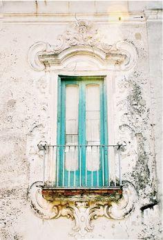 teal balcony