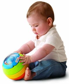 Lamaze Stack, Roll and Crawl Ball (balls ~ 6-9 mos.)