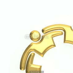 """3D gold people logo"" Stock photo and royalty-free images on Fotolia.com - Pic 86243586"