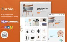 Furniture, Handmade & Crafts Shop WooCommerce Template by Webibazaar | TemplateMonster Ecommerce Website Design, Website Design Layout, Website Design Inspiration, Web Layout, Layout Design, Design Ideas, Learn Web Design, Creative Web Design, Craft Shop