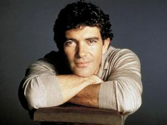 Antonio Banderas--> a striking man. oddly enough, i find looks like my father:s