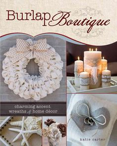 In Burlap Boutique , you'll find eighteen projects with easy-to-follow instructions that will make you rethink this durable, open-weave fabric. Learn how to sew, stencil, embellish and manipulate burl