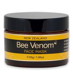 Bee Venom Mask Perking up tired skin by stimulating the facial muscles with beauty's biggest buzz ingredient, New Zealand Bee Venom. Use as a face mask or night cream to firm and tighten skin. It's like botox, but natural. And no, it doesn't sting.
