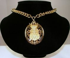 NETTIE ROSENSTEIN French Medallion Pendant Necklace by KatsCache, $274.95
