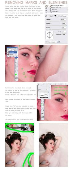 Use the Spot Healing Brush to remove blemishes. | 21 Incredibly Simple Photoshop Hacks Everyone Should Know