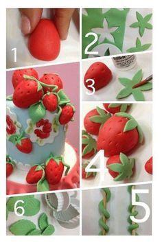 Strawberries step by step