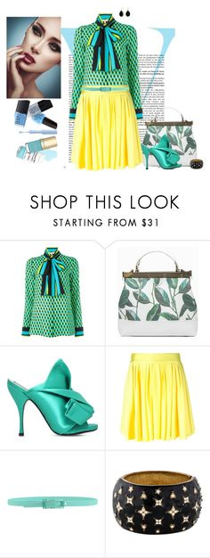 """""""Take A Bow"""" by chileez ❤ liked on Polyvore featuring Victoria Beckham, Tammy & Benjamin, N°21, FAUSTO PUGLISI, Tie-Ups, Kenneth Jay Lane and Bling Jewelry"""