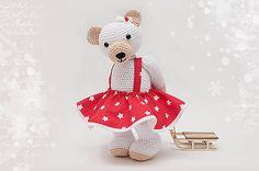 ZuzanaHdesigns / vianočná Hello Kitty, Teddy Bear, Christmas Ornaments, Toys, Holiday Decor, Handmade, Animals, Character, Art