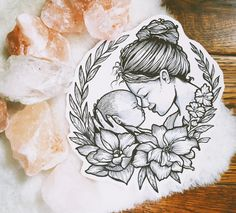 Made this giveaway for mother's day Mutterschaft Tattoos, Mama Tattoos, Tattoos For Baby Boy, Baby Feet Tattoos, Tattoos For Kids, Tattoos For Daughters, Cute Tattoos, Beautiful Tattoos, Body Art Tattoos