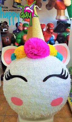 Piñata rosto de Unicornio (esfera)