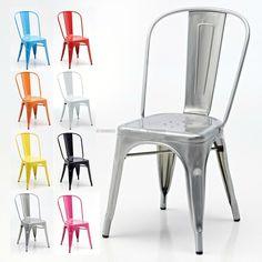 Cadeira Retro Café estilo Tolix