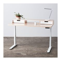 Jarvis Atwood Hardwood Standing Desk with Drawers